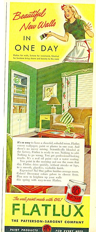 Flatlux paint ad -  1947 (Image1)