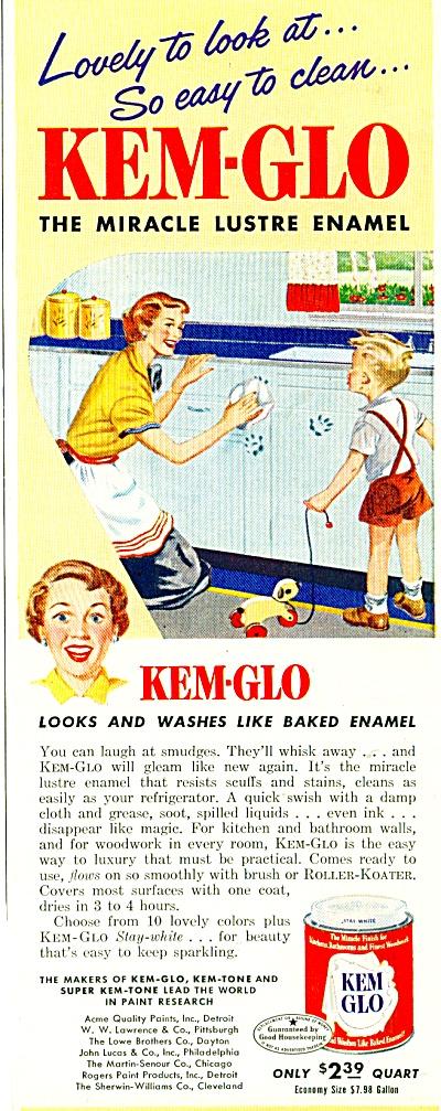Kem-Glo enamel ad - 1950 (Image1)