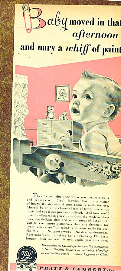 1952 PRATT & LAMBERT PAINT AD J.C. Campbell (Image1)