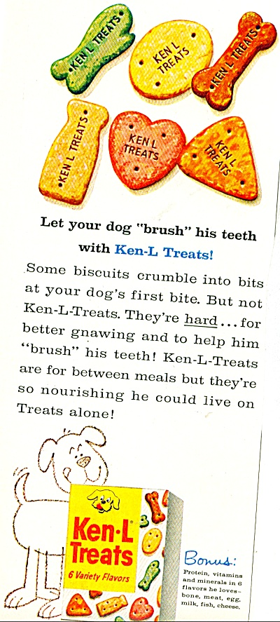 Ken-l Treats ad - 1961 (Image1)
