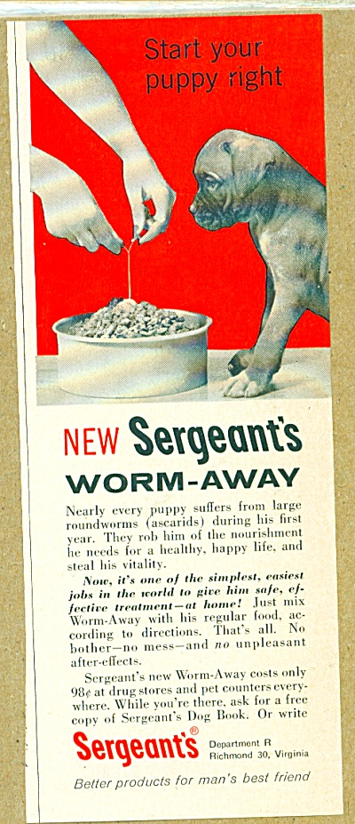 Sergeant's worm away ad (Image1)