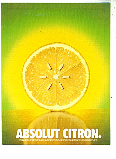 Absolut Citron vodka ad (Image1)