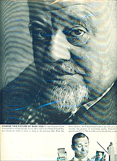 1958 BURL IVES Polaroid Land Camera AD (Image1)