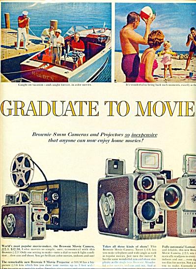 1957 EASTMAN KODAK 2 PG AD Caneras Projectors (Image1)