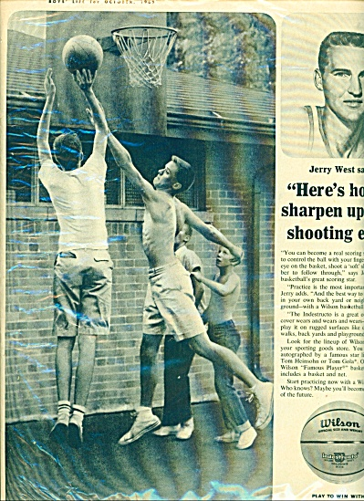 1963 Wilson Basketball AD JERRY WEST BB (Image1)