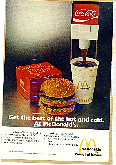 Mcdonald's And Coca Cola Ad Coke Both Best
