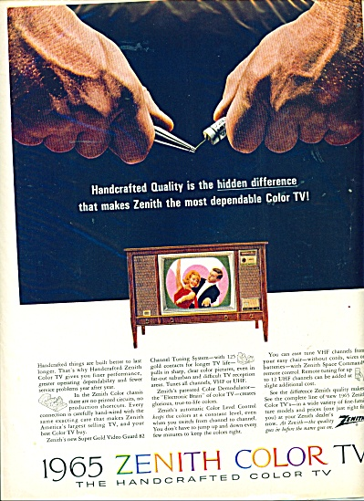 1965 Zenith Handcrafted Color TV Television A (Image1)