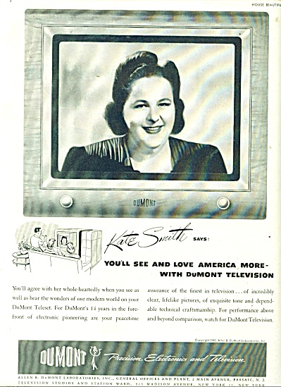 Dumont electronics and television ad - 1945 (Image1)
