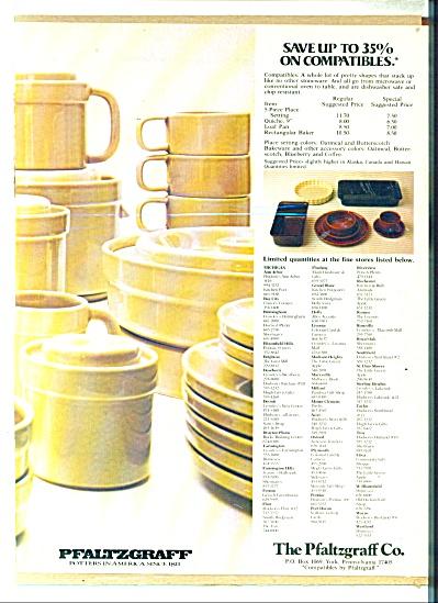 The Pfaltzgraff co. ad PFUNCTIONAL DINNERWARE (Image1)