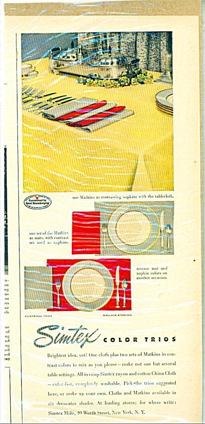 Sintex color trios ad -  1951 (Image1)
