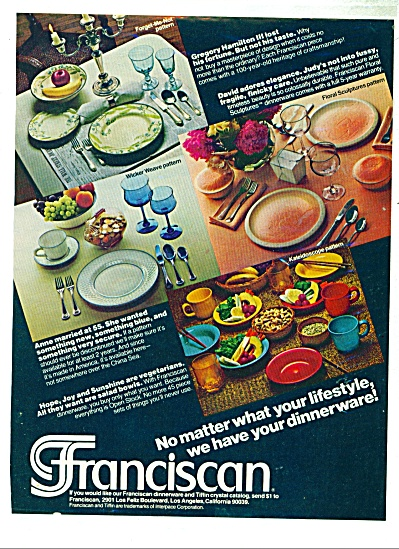 Franciscan dinnerware ad - 1978 (Image1)
