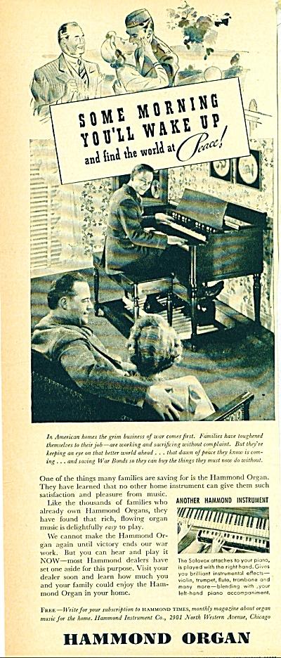 Hammond Organ ad  1940s (Image1)