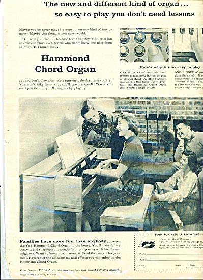 Hammond Chord Organ ad - 1957 (Image1)