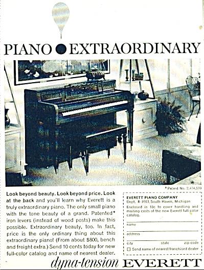 dyno tension Everett piano ad - 1965 (Image1)