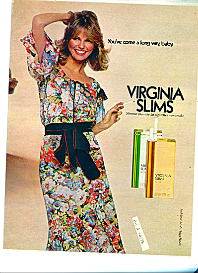 Virginia Slims AD - 1978 CHERYL TIEGS (Image1)