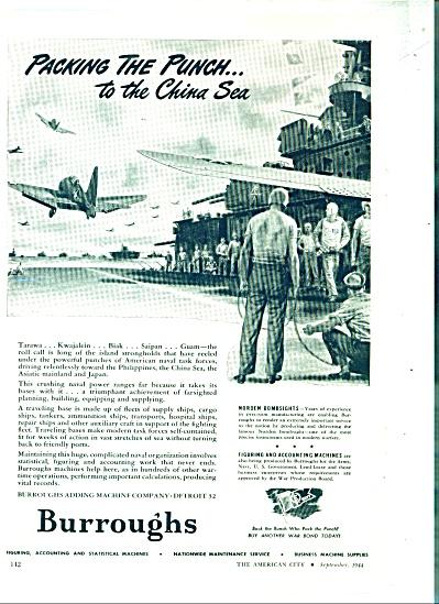 Burroughs company  ad  - 1944 (Image1)