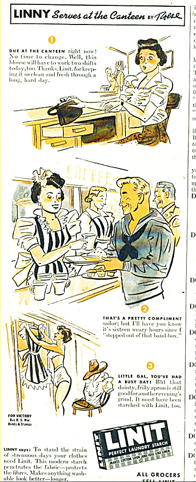 Linit perfect Laundry starch ad - 1943 (Image1)