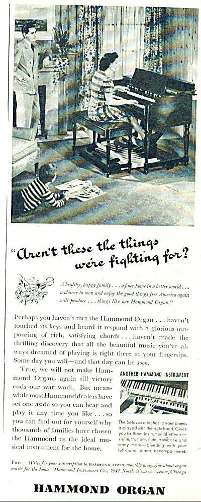 Hammond Organ ad -  1943 (Image1)