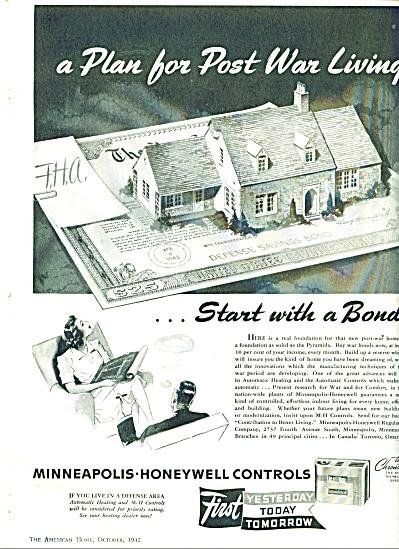 Minneapolis=-Honeywell controlss ad - 1942 (Image1)