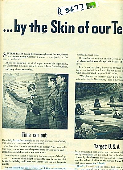 VULTEE AIRCRAFT AD WWII NAZI ALMOST WON (Image1)