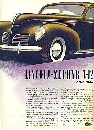 Lincoln Zephyr V-12 for 1938 ad (Image1)