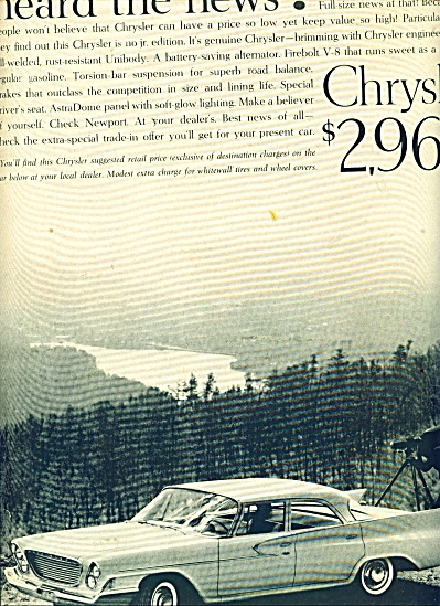 Chrysler automobile ad (Image1)