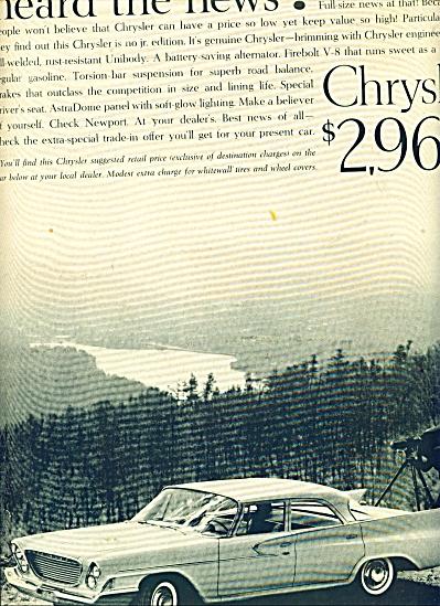 Chrysler automobile ad (Image1)