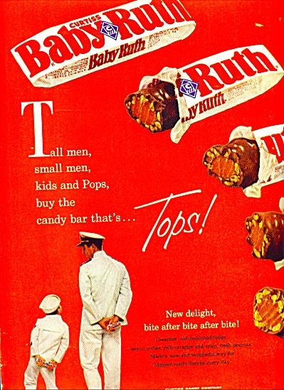 Baby Ruth candy bar.  ad (Image1)