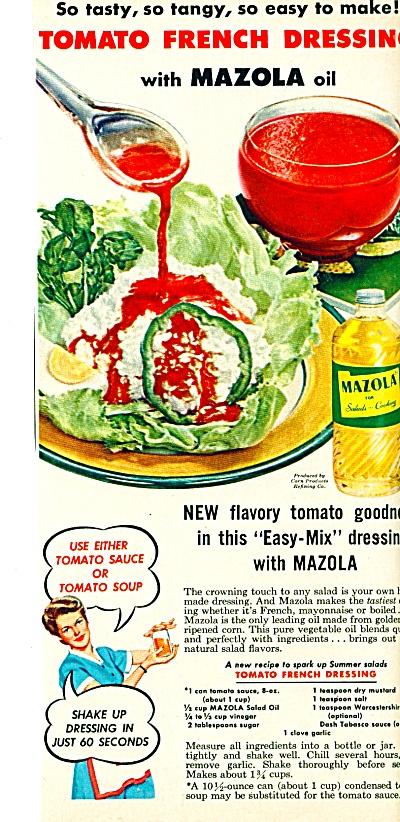 Mazola oil ad -  1954 (Image1)