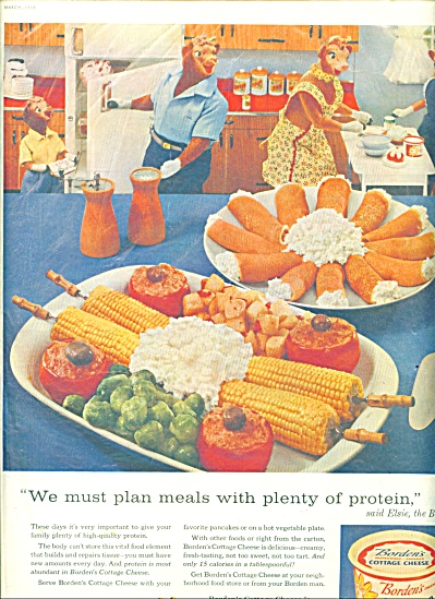 Borden's Cottage cheese ad (Image1)