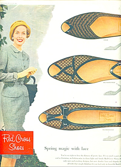 Vintage Red Cross Shoe AD Spring Magic Coolie (Image1)