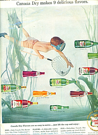 Vintage Canada Dry AD Little Boy Skin Diving (Image1)
