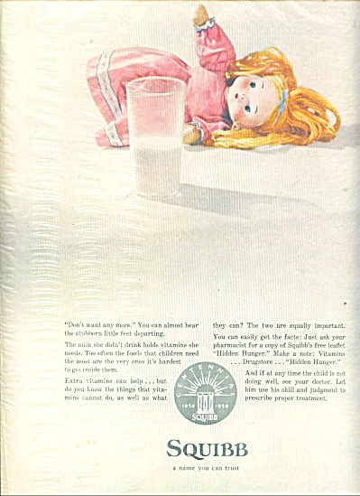 Squibb Medical ad BABY DOLL - MILK AD (Image1)