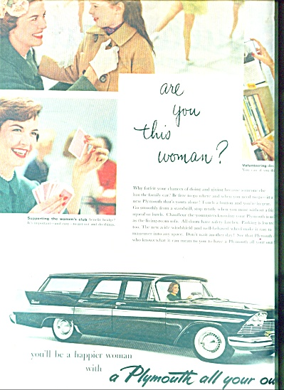 Plymouth auitomobile ad (Image1)