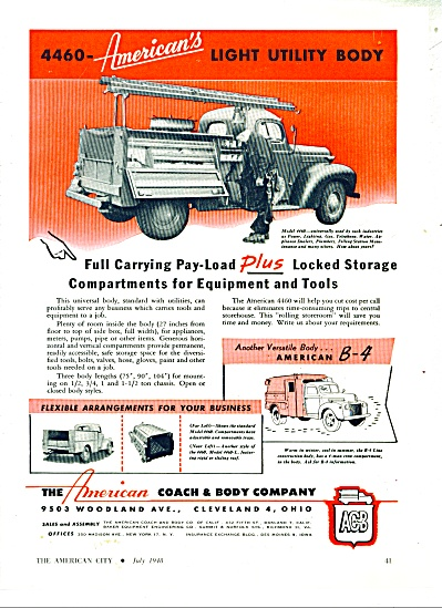 The American Coach & Body Co. ad  1948 (Image1)