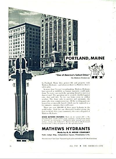 Mathews Hydrants ad   1948 (Image1)