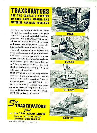 1948 TRAXCAVATORS Tractor Excavator Equipment (Image1)