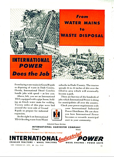 1948 International Harvester Tractor Ad