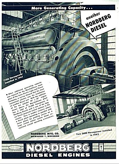 Nordberg Diesel Engines ad - 1948 (Image1)