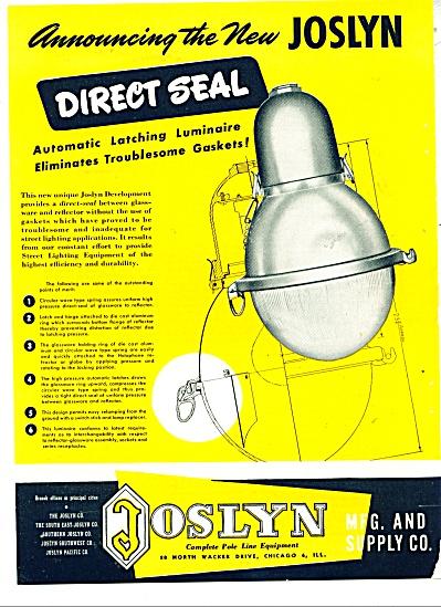 The New Joslyn ad   - 1948 (Image1)