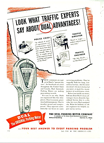 The Dual Parking meter company ad 1948 (Image1)