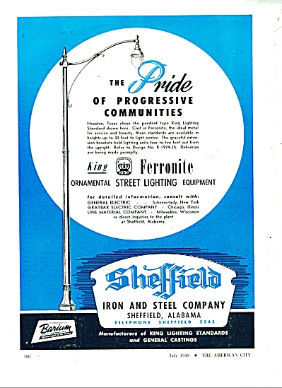 Sheffield Iron and steel company ad 1948 (Image1)