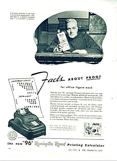 The new 96  Remington Rand printing calculato (Image1)