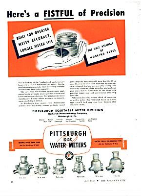 Pittsburgh disc Water Meters ad - 1948 (Image1)