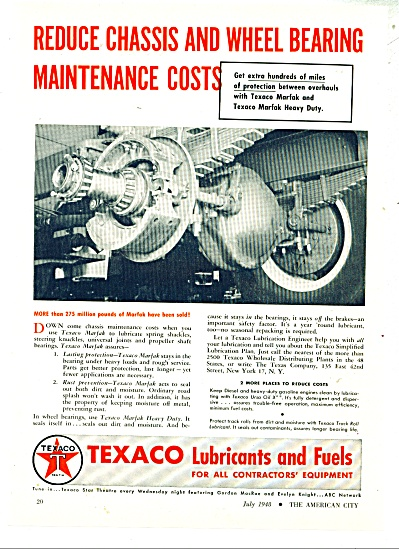 1948 Texaco Lubricants and Fuels  ad - 1948 (Image1)