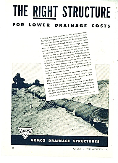 ARmco Drainage structures ad - 1948 (Image1)