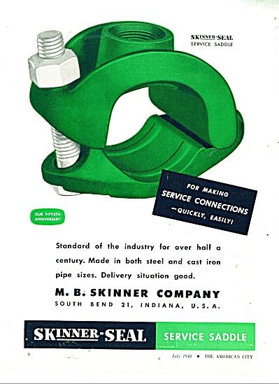 Skinner Seal service saddle ad - 1948 (Image1)