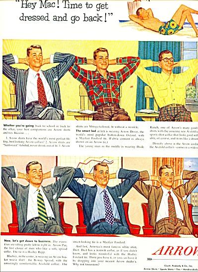 1951 ARROW SHIRTS AD Get Back MAC Fashions (Image1)