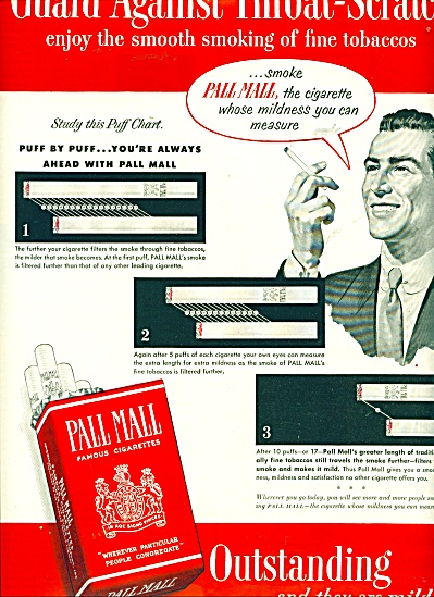 Pall Mall famous cigarettes ad (Image1)