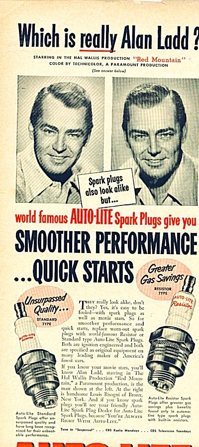 Auto Lite spark plugs ad (Image1)